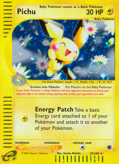 Pichu card for Expedition Base Set
