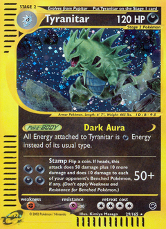 Tyranitar card for Expedition Base Set