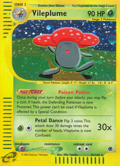 Vileplume card for Expedition Base Set