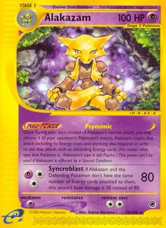 Alakazam card for Expedition Base Set