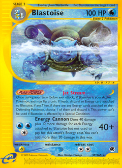 Blastoise card for Expedition Base Set