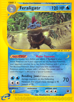 Feraligatr card for Expedition Base Set