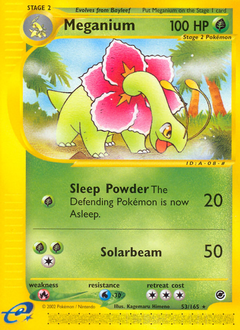 Meganium card for Expedition Base Set
