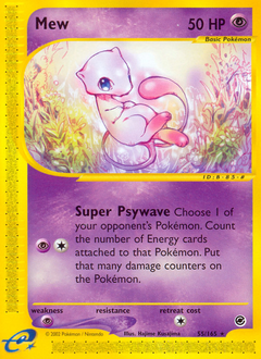 Mew card for Expedition Base Set