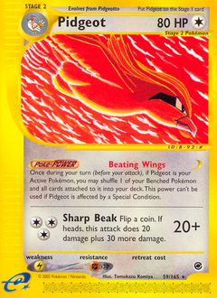 Pidgeot card for Expedition Base Set