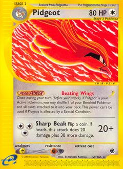 Pidgeot card for Expedition Base Set