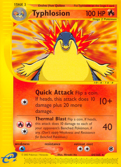 Typhlosion card for Expedition Base Set