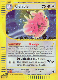 Clefable card for Expedition Base Set