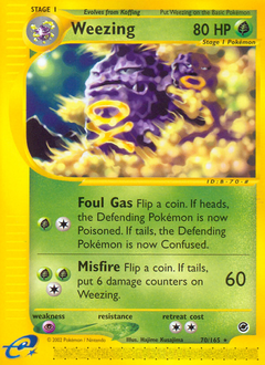 Weezing card for Expedition Base Set