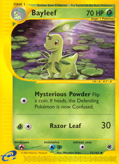 Bayleef card for Expedition Base Set