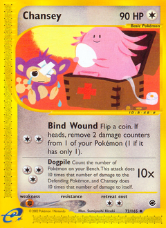 Chansey card for Expedition Base Set