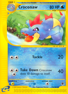 Croconaw card for Expedition Base Set