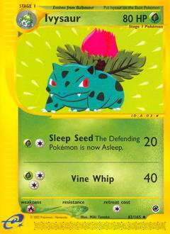 Ivysaur card for Expedition Base Set