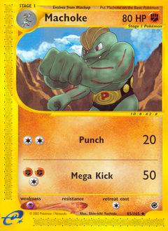 Machoke card for Expedition Base Set