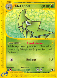 Metapod card for Expedition Base Set