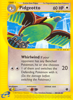 Pidgeotto card for Expedition Base Set