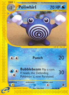 Poliwhirl card for Expedition Base Set