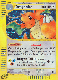 Dragonite card for Expedition Base Set