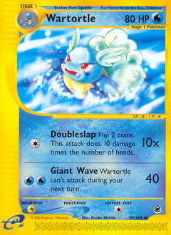 Wartortle card for Expedition Base Set