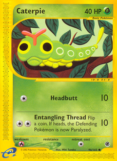 Caterpie card for Expedition Base Set