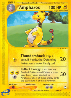 Ampharos card for Aquapolis