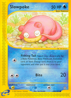 Slowpoke card for Aquapolis