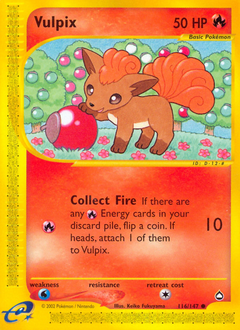 Vulpix card for Aquapolis