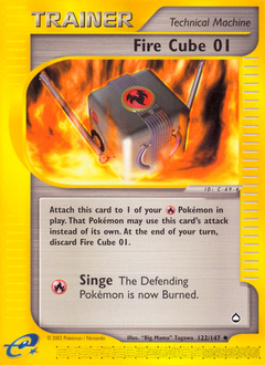 Fire Cube 01 card for Aquapolis