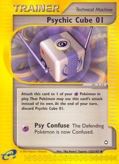 Psychic Cube 01 card for Aquapolis