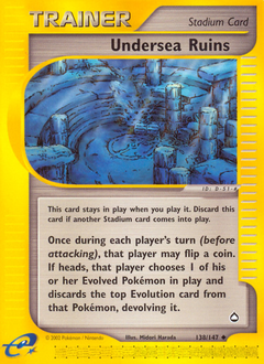 Undersea Ruins card for Aquapolis
