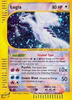 Lugia card for Aquapolis