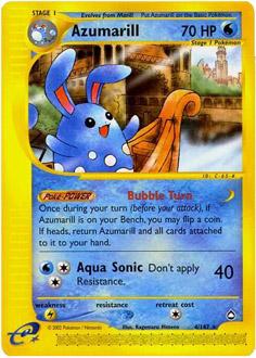 Azumarill card for Aquapolis