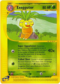 Exeggutor card for Aquapolis