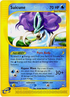 Suicune card for Aquapolis