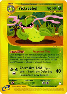 Victreebel card for Aquapolis