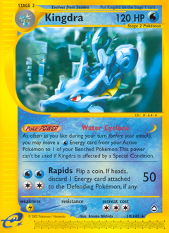 Kingdra card for Aquapolis
