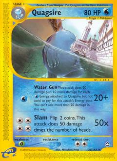 Quagsire card for Aquapolis