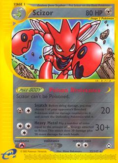 Scizor card for Aquapolis