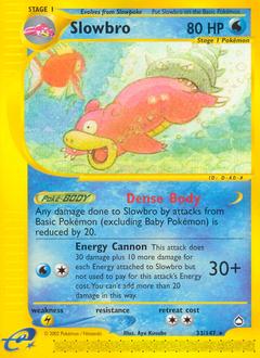 Slowbro card for Aquapolis