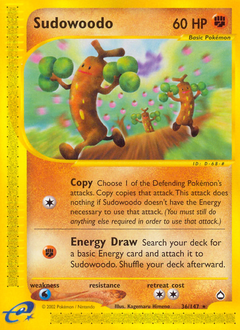 Sudowoodo card for Aquapolis
