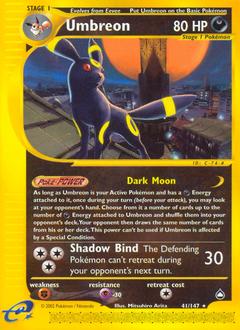 Umbreon card for Aquapolis
