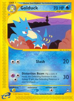 Golduck card for Aquapolis