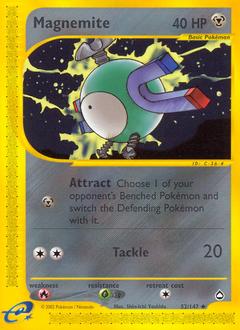 Magnemite card for Aquapolis