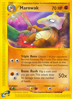 Marowak card for Aquapolis