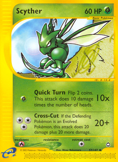 Scyther card for Aquapolis