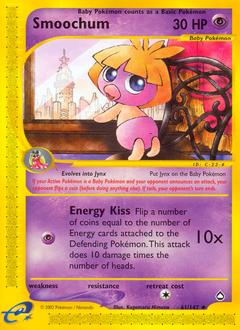 Smoochum card for Aquapolis