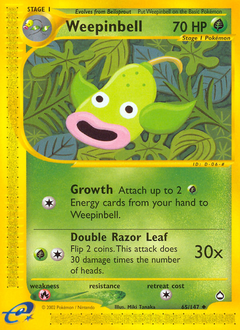 Weepinbell card for Aquapolis