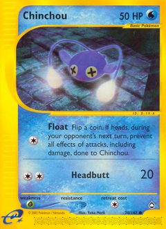 Chinchou card for Aquapolis