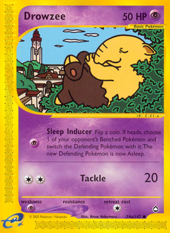 Drowzee card for Aquapolis