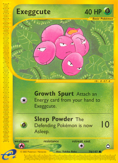 Exeggcute card for Aquapolis